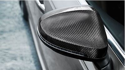 OEM Audi B9 (8W) Chassis - Carbon Fiber Mirror Cap Set (one pair, left and  right side)