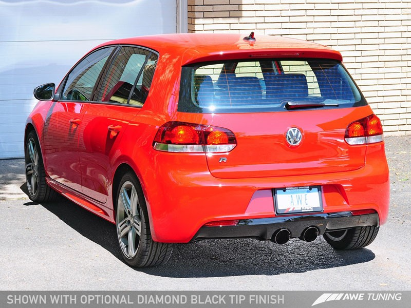 AWE Tuning Golf R Track Edition Exhaust - Diamond Black Tips