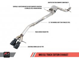 AWE Track Edition Exhaust for MK6 GLI 2.0T - MK6 Jetta 1.8T - Diamond Black Tips
