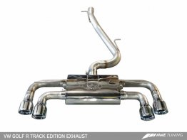 AWE Tuning Mk7 Golf R Track Edition Exhaust with Chrome Silver Tips, 90mm