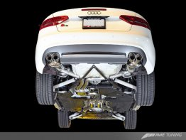 AWE Touring Edition Exhaust System for B8/8.5 S5 Cabrio (Exhaust + Non-Resonated Downpipes) - Diamond Black Tips