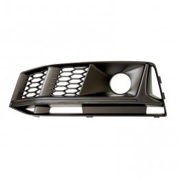 Black Optics Fog Light Grill (left) - B9 (8W) Chassis Audi S4 (for cars with ACC) (with additional cooling opening)