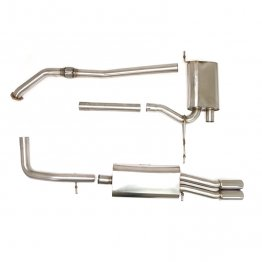 Billy Boat Exhaust - Audi B5 A4 FWD (5-speed) 1.8T (1997-2001) Cat Back Exhaust System with Twin Round Tips