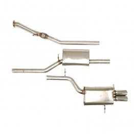 Billy Boat Exhaust - Audi B5 A4 Quattro (5-speed) 1.8T (1997-2001) Cat Back Exhaust System with Twin Round Tips