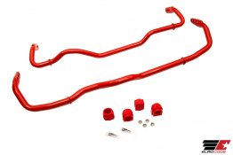 Eurocode SwayBar Front & Rear AWD Red Powder Coat for MQB Golf R, 8V RS3/TTRS/A3/S3