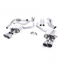 Milltek Sport Audi B9 S4/S5 Turbo V6 Cat-Back Non-Resonated Quad GT-90 Titanium Tips (Non-Sport Diff)