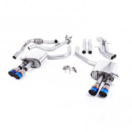 Milltek Sport Audi B9 S4/S5 Turbo V6 Cat-Back Non-Resonated Quad GT-90 Burnt Titanium Tips (Non-Sport Diff)