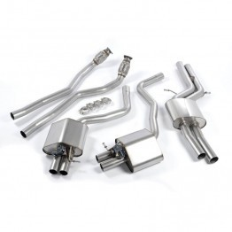 Milltek Audi C7 RS6/RS7 Cat-Back Exhaust System - Valvesonic Resonated - Retains OEM Exhaust Valve and Tips