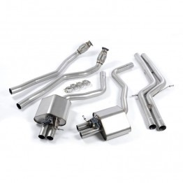 Milltek Audi C7 RS6/RS7 Cat-Back Exhaust System - Valvesonic Non-Resonated - Retains OEM Exhaust Valve and Tips