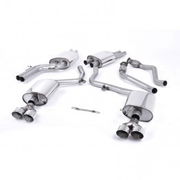 Milltek Audi B8.5 S4 3.0T Cat-Back Exhaust System - Resonated - Quad GT100 Polished Tips