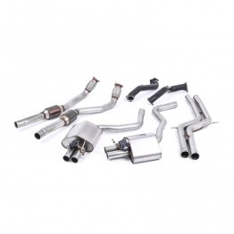 Milltek Sport Audi C7 RS6/RS7 4.0T Turbo Back Exhaust System - 100CPSI Hi-Flow Catalysts - Non-Resonated - Valved- Uses OE Tips