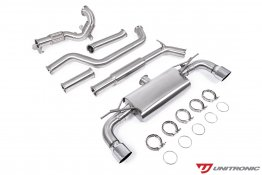 Unitronic Turbo-Back Exhaust - Chrome Tips - MK7.5 GTI