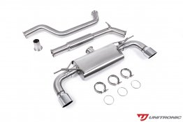 Unitronic Cat-Back Exhaust - Chrome Tips - MK7.5 GTI