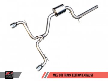 AWE Track Edition Exhaust for VW MK7 GTI - Diamond Black Tips